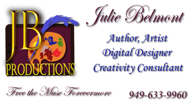 Julie Belmont Author, Artist, Creativity Consultant, Digital Designer 949-633-9960